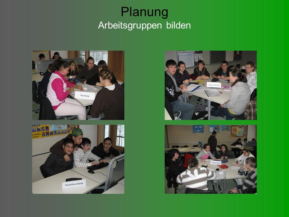 Planung Arbeitsgruppen bilden