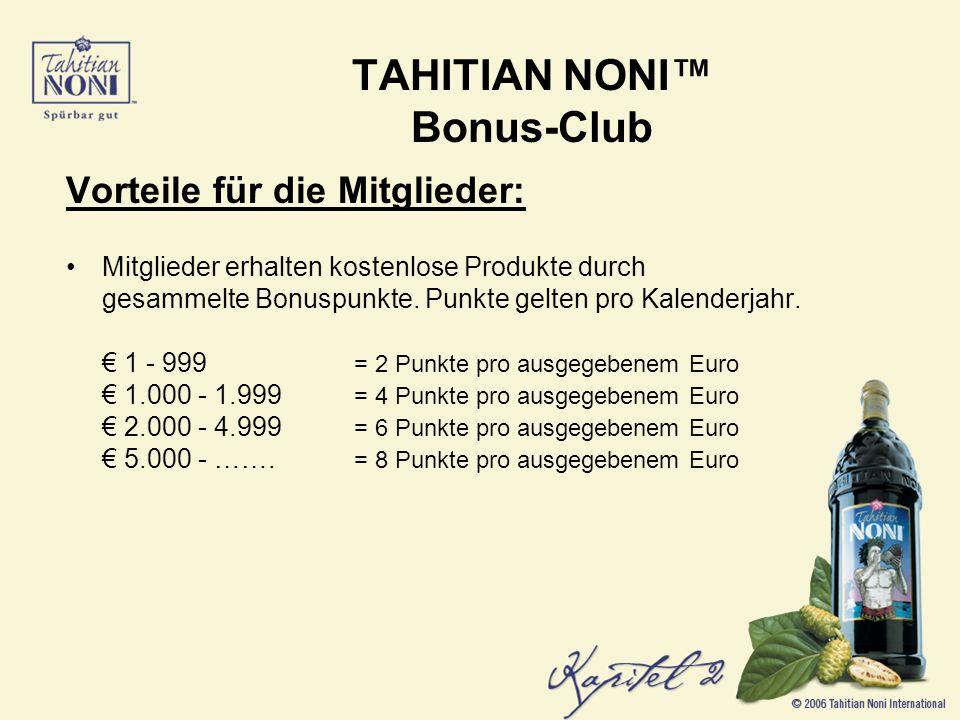 Vorteile für die Mitglieder: Mitglieder erhalten kostenlose Produkte durch gesammelte Bonuspunkte.