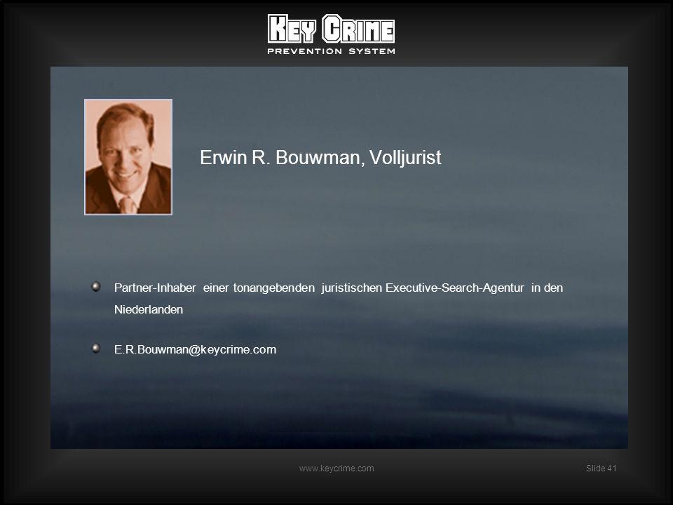 Slide 41 www.keycrime.com Erwin R.