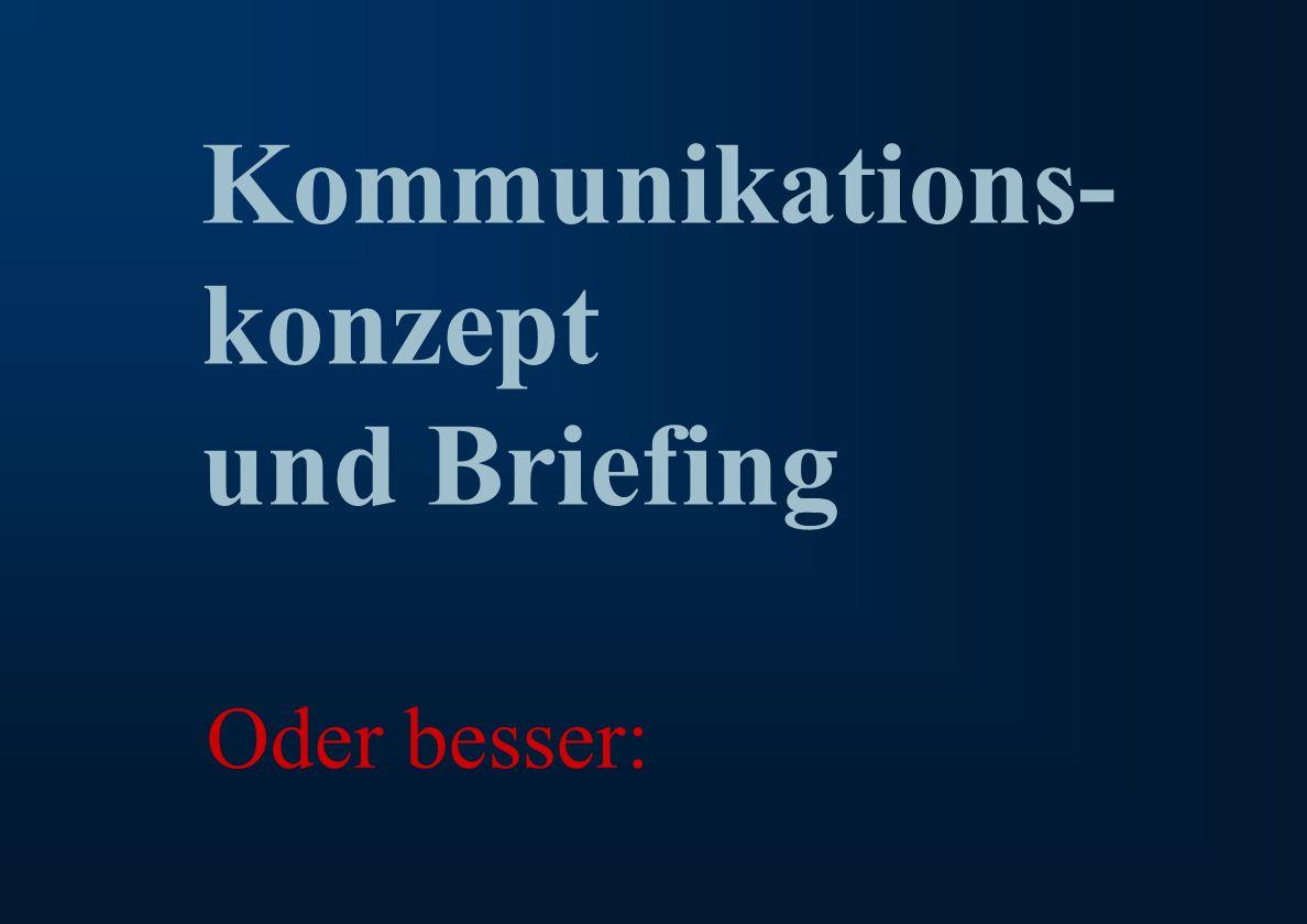 % Ralph Erik Hartleben 1 Verringerung von Risiko und Fehlleistungskosten in der Kommunikation Kommunikations- konzept und Briefing Oder besser: