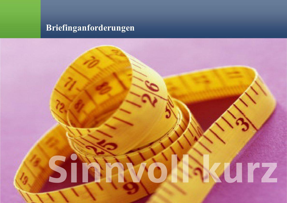 % Ralph Erik Hartleben 35 Verringerung von Risiko und Fehlleistungskosten in der Kommunikation Briefinganforderungen