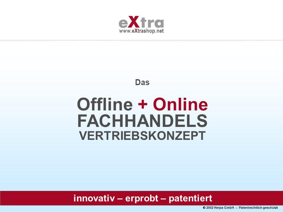 2002 Herpa GmbH – Patentrechtlich geschützt www.eXtrashop.net Das Offline + Online FACHHANDELS VERTRIEBSKONZEPT innovativ – erprobt – patentiert