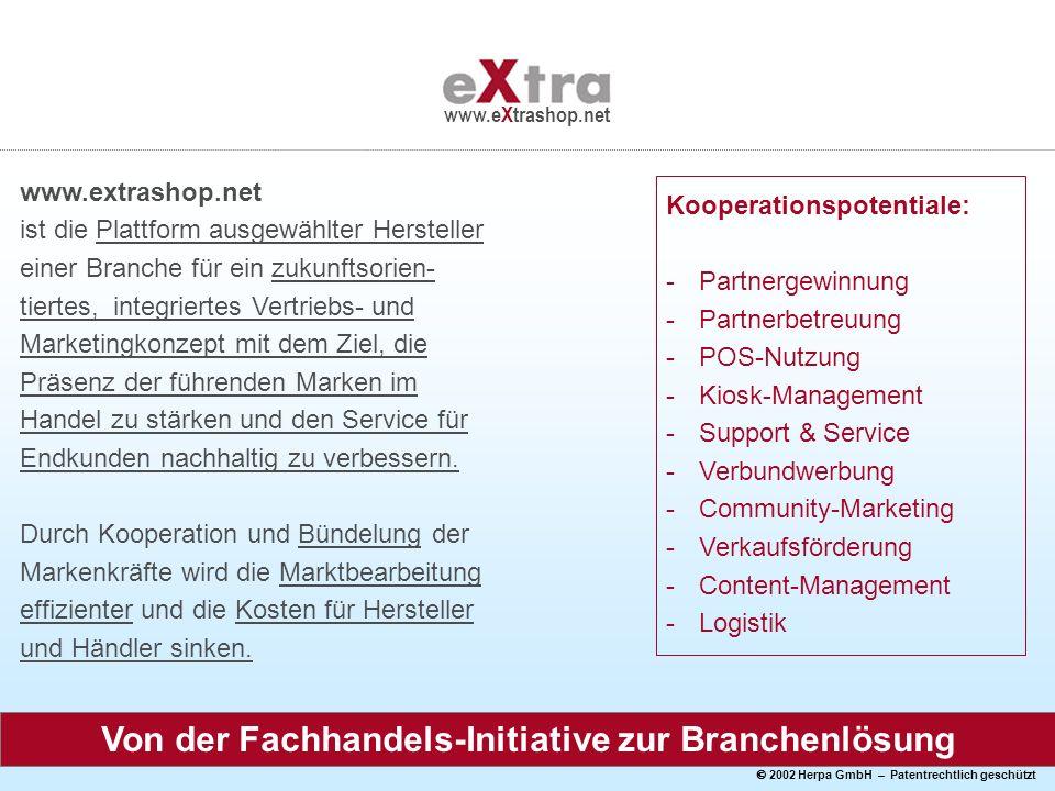 2002 Herpa GmbH – Patentrechtlich geschützt www.eXtrashop.net www.extrashop.net ist die Plattform ausgewählter Hersteller einer Branche für ein zukunf