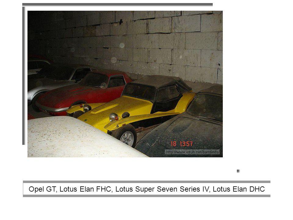 Opel GT, Lotus Elan FHC, Lotus Super Seven Series IV, Lotus Elan DHC