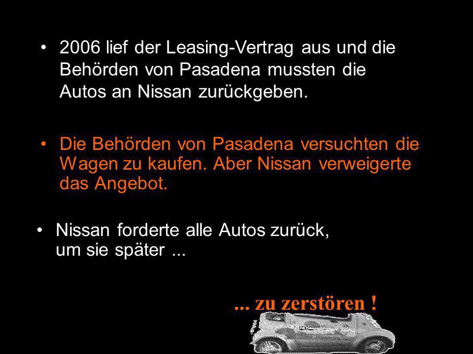 1997, Nissan präsentierte das Elektro-Model Hypermini in einer Ausstellung in Tokyo. Die Behörden von Pasadena (California USA ) kauften solche Fahrze