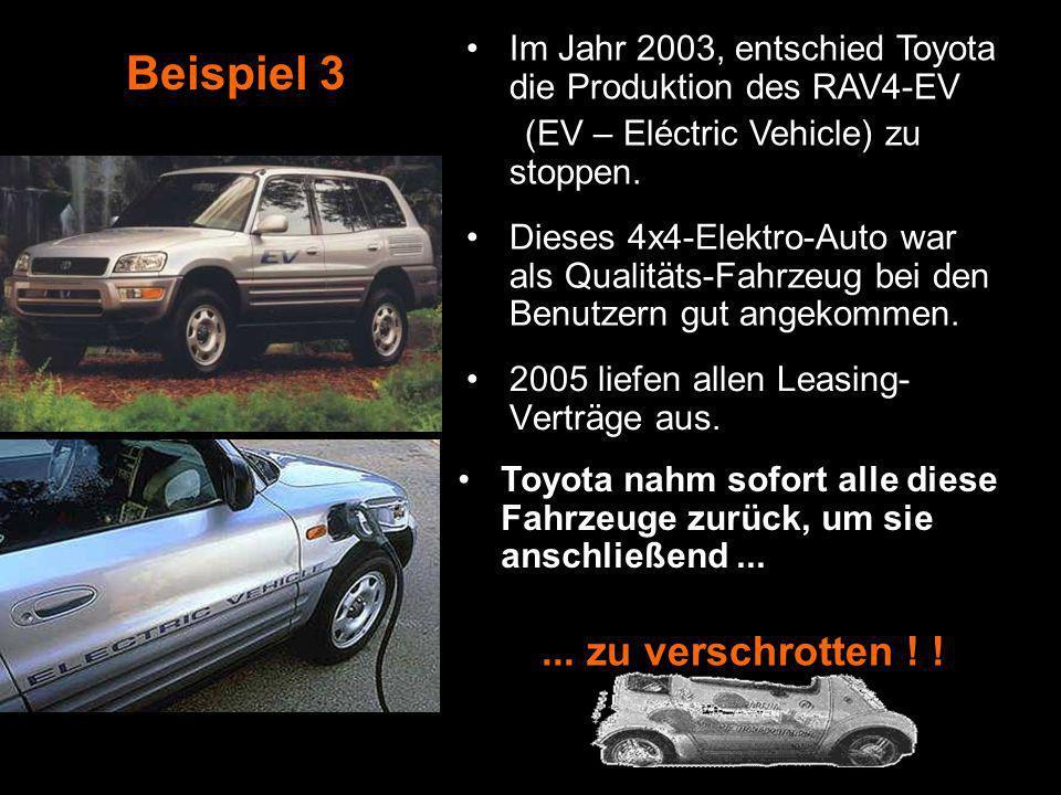 Die Behörden von Pasadena versuchten die Wagen zu kaufen. Aber Nissan verweigerte das Angebot.... zu zerstören ! 2006 lief der Leasing-Vertrag aus und