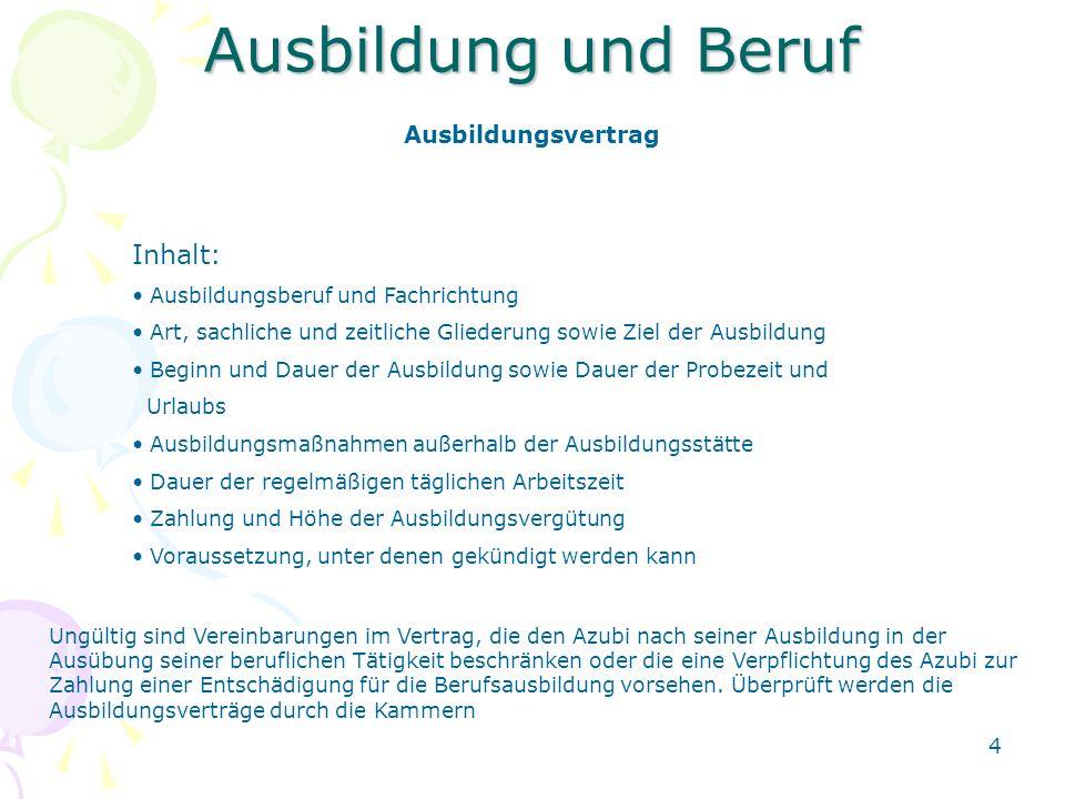 5 Ausbildung und Beruf Jugendarbeitsschutzgesetz Gilt für Jugendliche Azubi´s, die das 18.