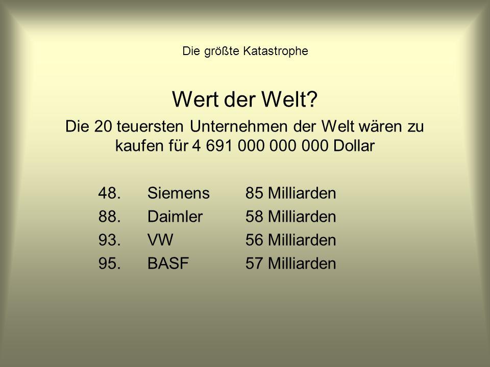 Die größte Katastrophe Vermögen der Kirchen Von anderer Art sind viele der Schätze der Großkirchen in Deutschland.