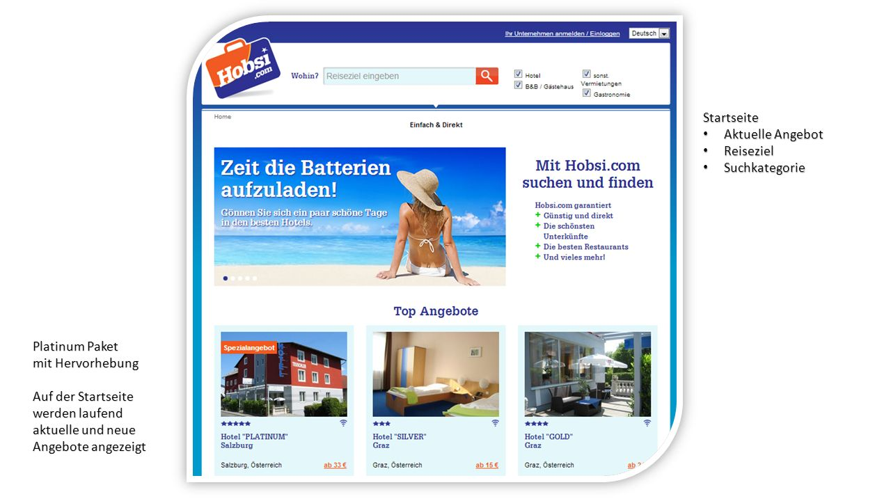 Startseite Aktuelle Angebot Aktuelle Angebot Reiseziel Reiseziel Suchkategorie Suchkategorie Platinum Paket mit Hervorhebung Auf der Startseite werden