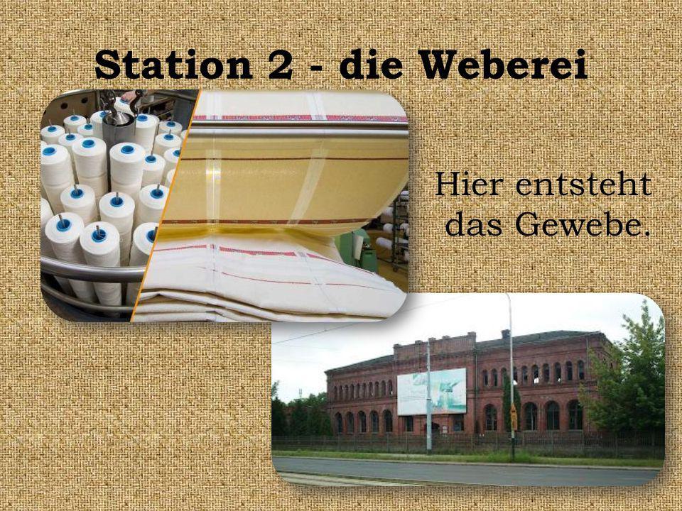 Station 2 - die Weberei Hier entsteht das Gewebe.