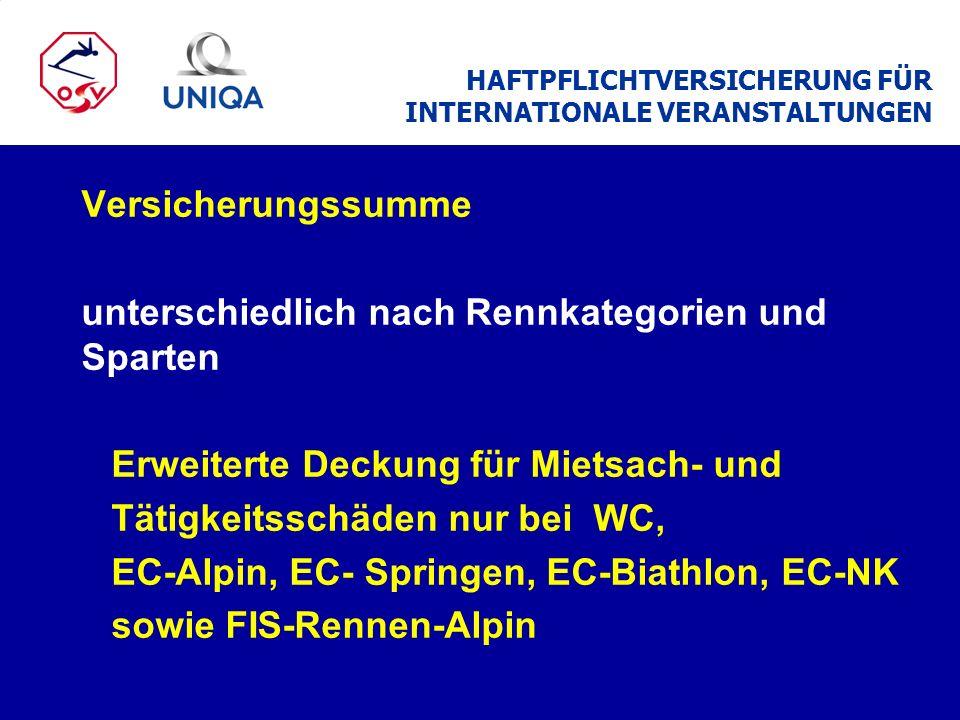 Landesverbandstrainer Derzeit sind 42 Trainer der LV mit Österreich- Deckung versichert.