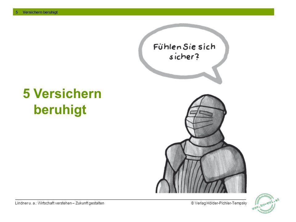 Lindner u. a.: Wirtschaft verstehen – Zukunft gestalten © Verlag Hölder-Pichler-Tempsky 5 Versichern beruhigt 5 Versichern beruhigt