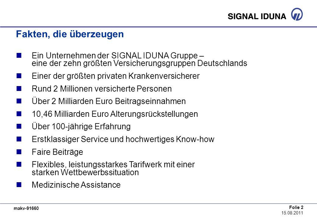 makv-91660 Folie 2 15.08.2011 Fakten, die überzeugen Ein Unternehmen der SIGNAL IDUNA Gruppe – eine der zehn größten Versicherungsgruppen Deutschlands