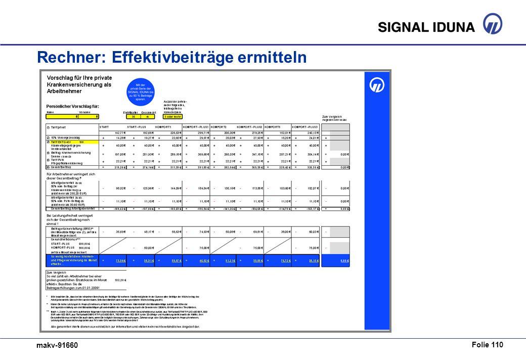 Folie 110 makv-91660 Rechner: Effektivbeiträge ermitteln