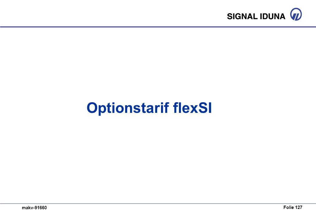 Folie 127 makv-91660 Optionstarif flexSI