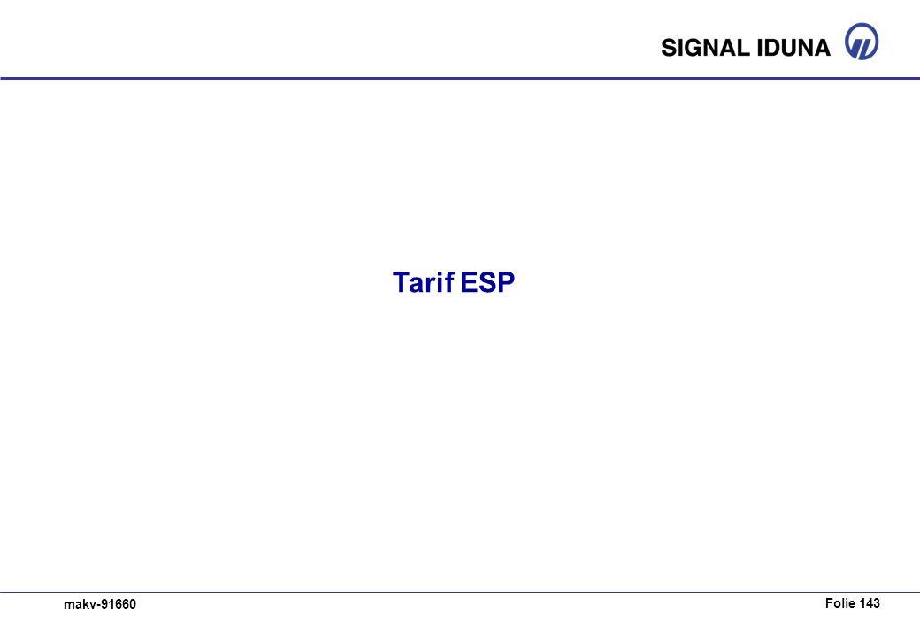 Folie 143 makv-91660 Tarif ESP