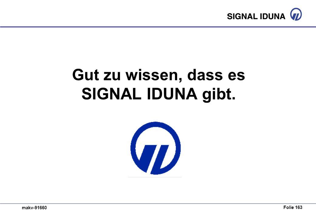 Folie 163 makv-91660 Gut zu wissen, dass es SIGNAL IDUNA gibt.