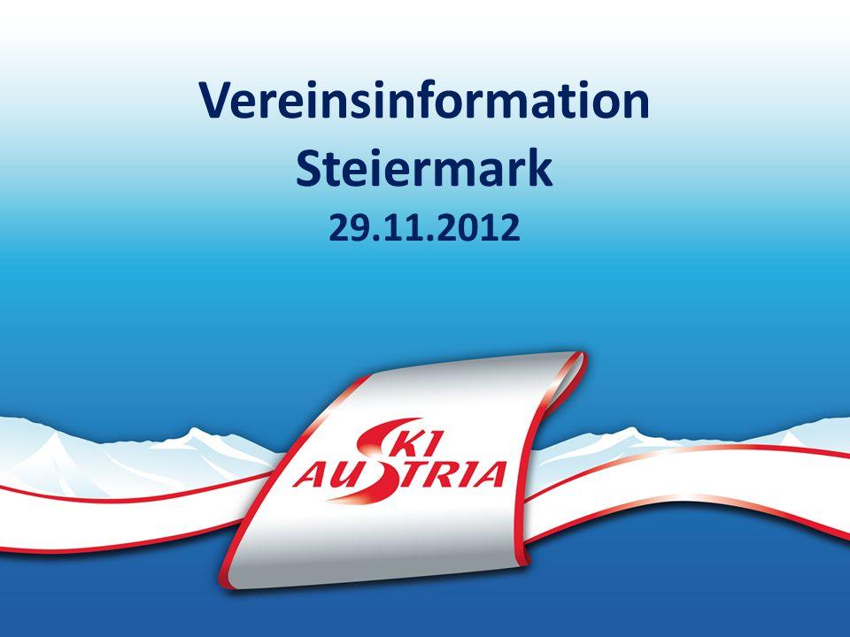 Vereinsinformation Steiermark 29.11.2012