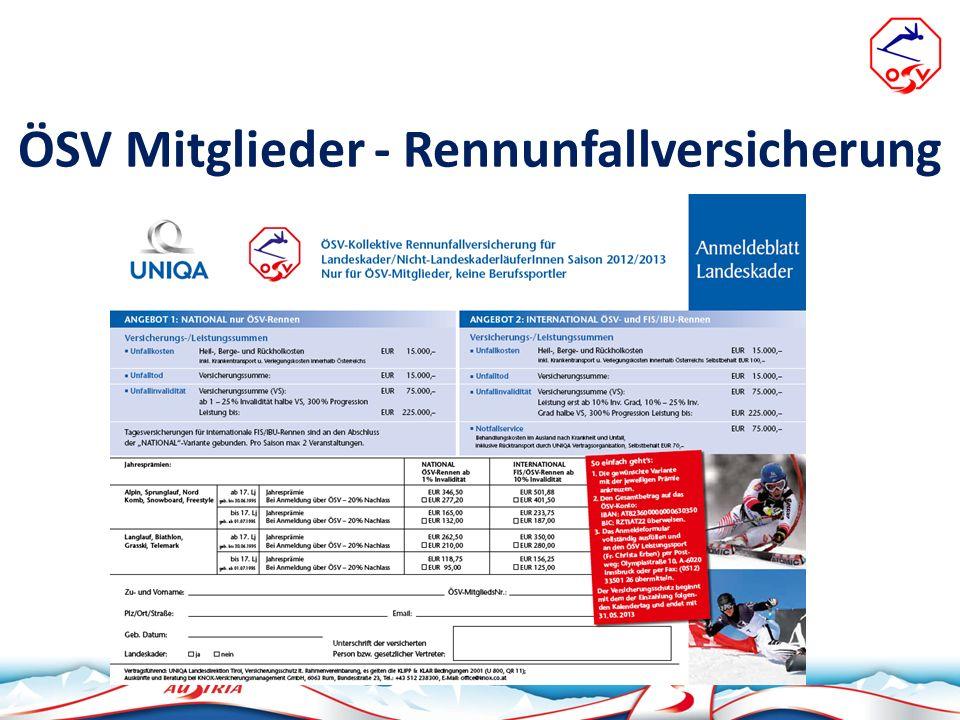 ÖSV Mitglieder - Rennunfallversicherung