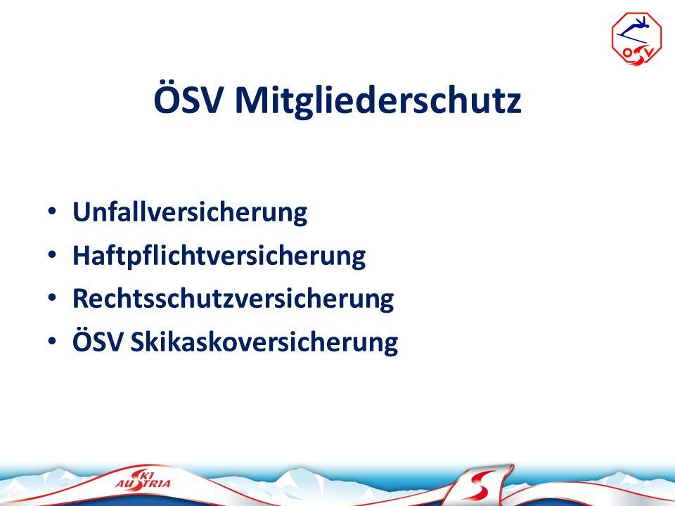 ÖSV Mitglieder - Schadenmeldungen Schadenmeldungen sind ausschließlich beim ÖSV, z.H.