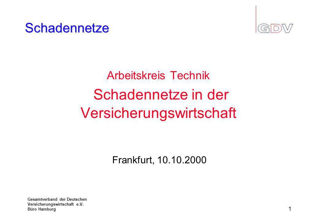 Schadennetze Gesamtverband der Deutschen Versicherungswirtschaft e.V.