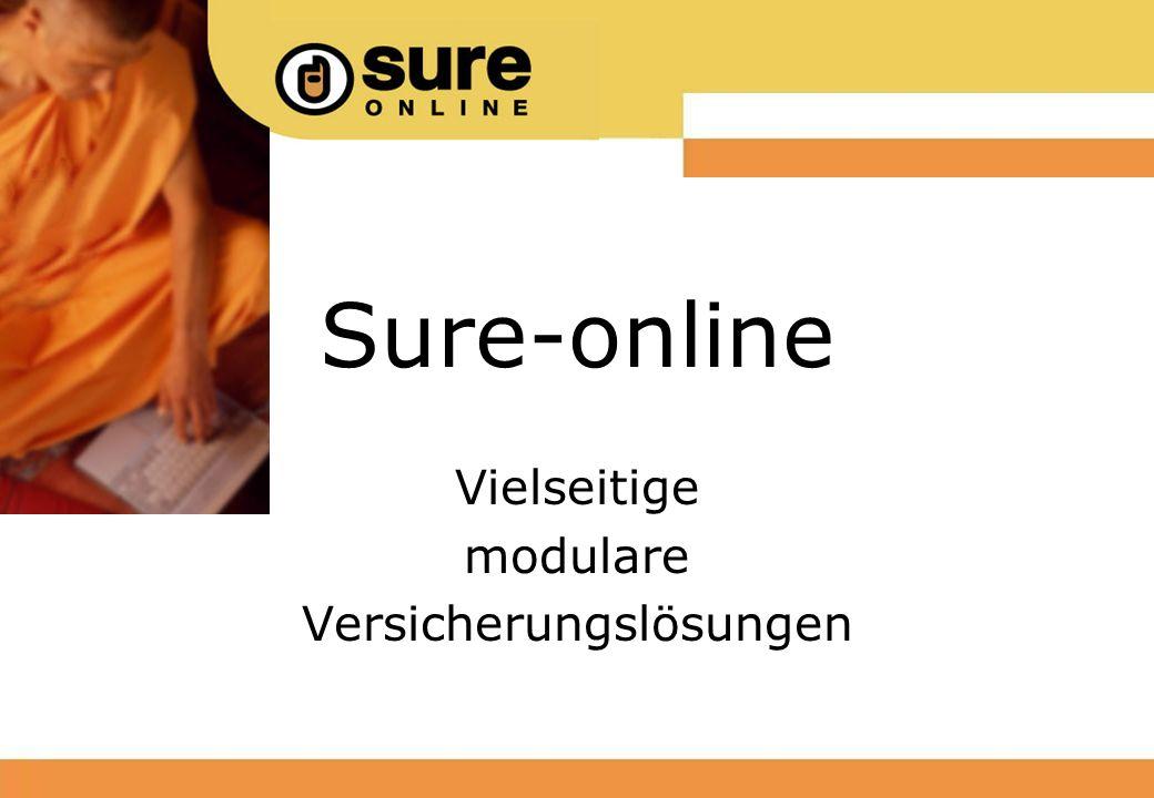 Sure-online Vielseitige modulare Versicherungslösungen