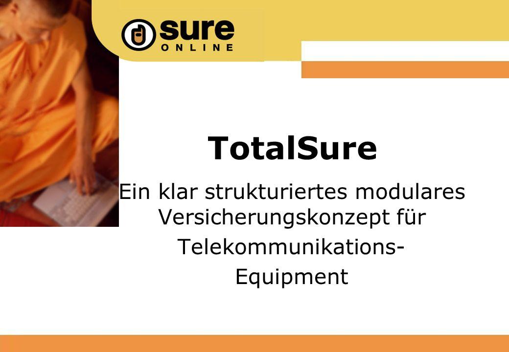 TotalSure Ein klar strukturiertes modulares Versicherungskonzept für Telekommunikations- Equipment
