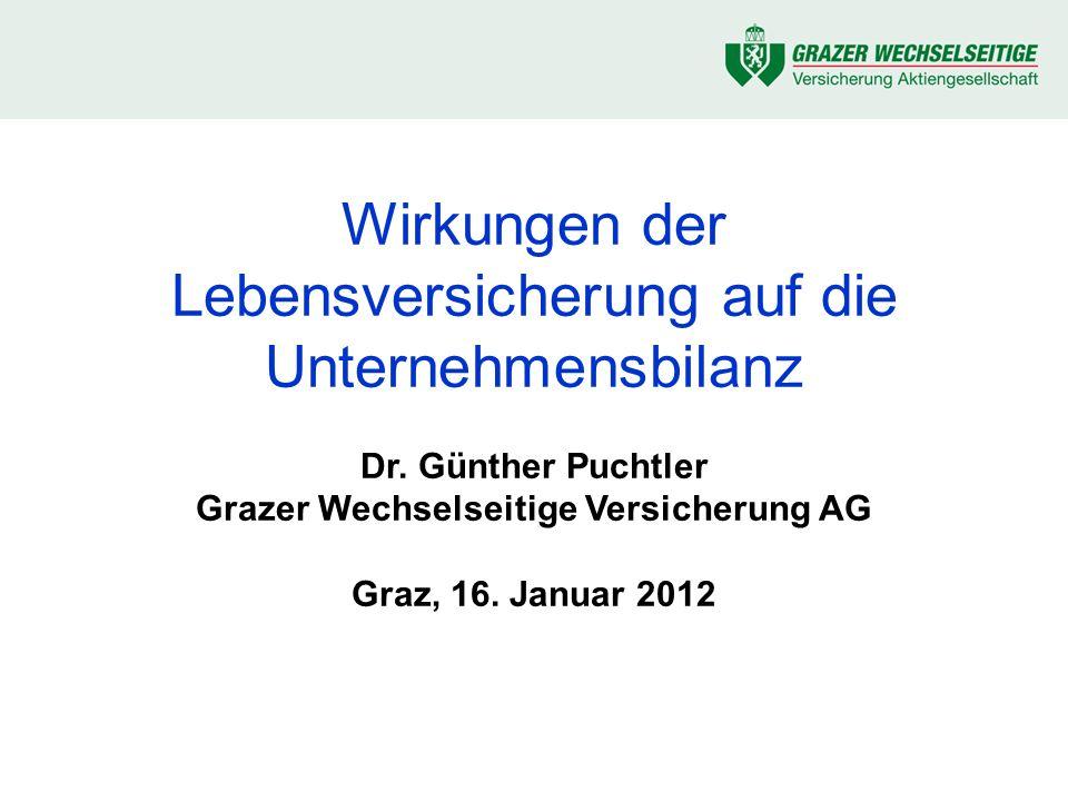 © 2012 Günther Puchtler 2 Zielsetzungen Die wichtigsten Fachbegriffe kennenlernen Wo finden sich welche versicherungsmathe- matischen Werte in einer Bilanz und GuV wieder.