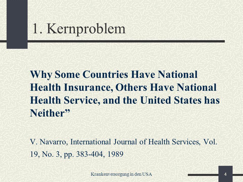 Krankenversorgung in den USA45 Die Managed Care Industry Bezeichnung für die Integration praktisch der gesamten Wertschöpfungskette der Gesundheitswirtschaft.