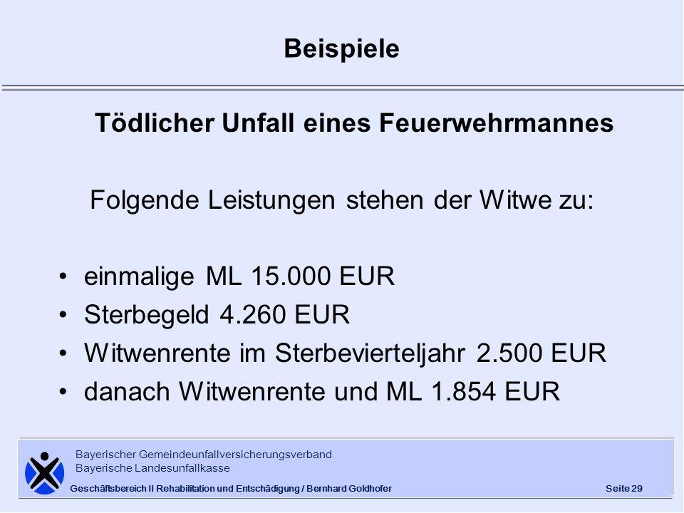 Bayerischer Gemeindeunfallversicherungsverband Bayerische Landesunfallkasse Seite 29 Geschäftsbereich II Rehabilitation und Entschädigung / Bernhard G