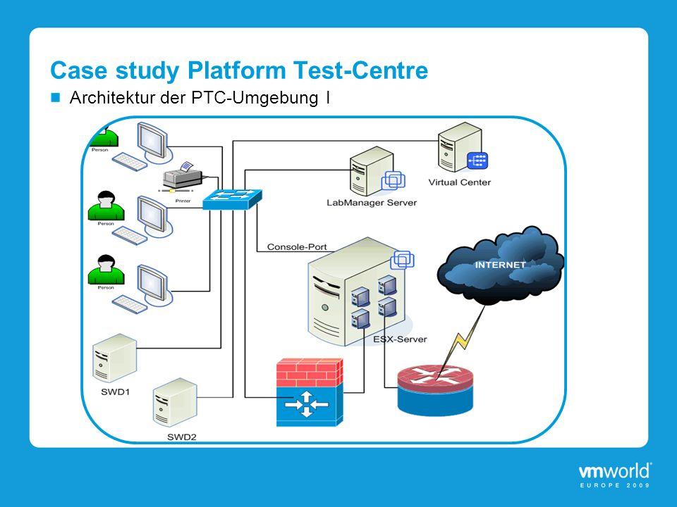 Case study Platform Test-Centre Architektur der PTC-Umgebung I