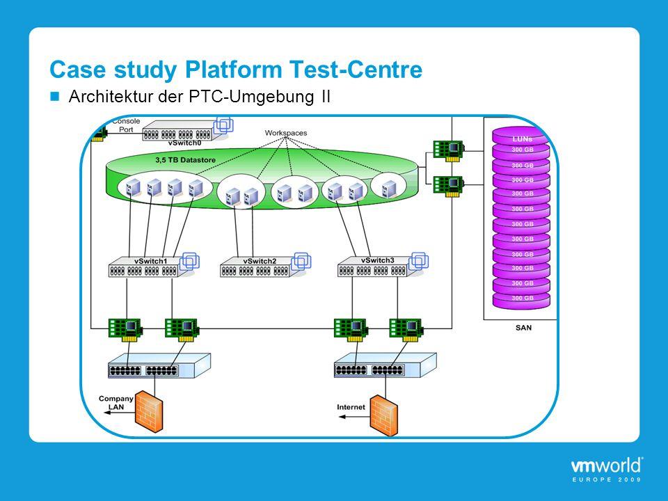 Case study Platform Test-Centre Architektur der PTC-Umgebung II