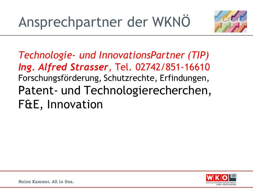 Ansprechpartner der WKNÖ Technologie- und InnovationsPartner (TIP) Ing.