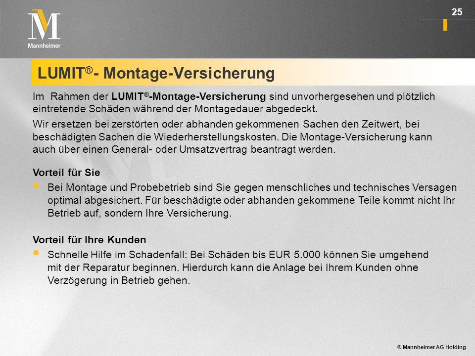© Mannheimer AG Holding 26 Schadenbeispiel: Feuer 25 kWp Anlage, Wert EUR 104.550,0, Schadenhöhe: EUR 110.000,00 Schadenursache: Selbstentzündung von eingebrachtem Heu