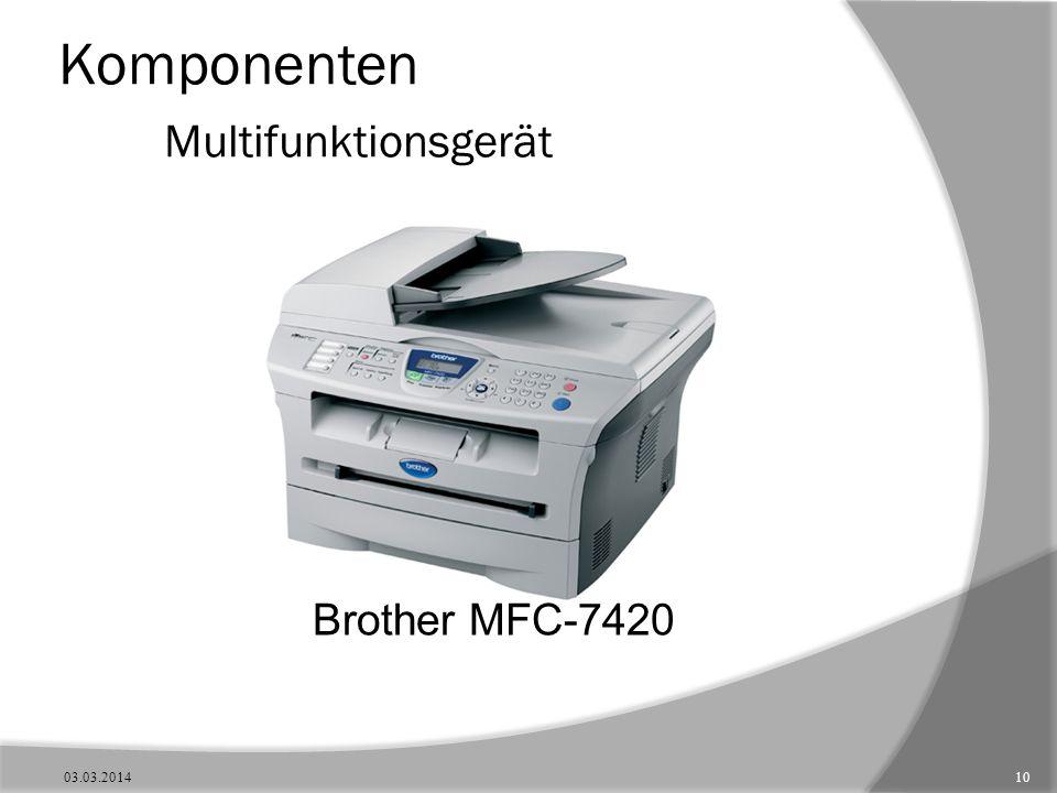 Komponenten Multifunktionsgerät Brother MFC-7420 03.03.201410