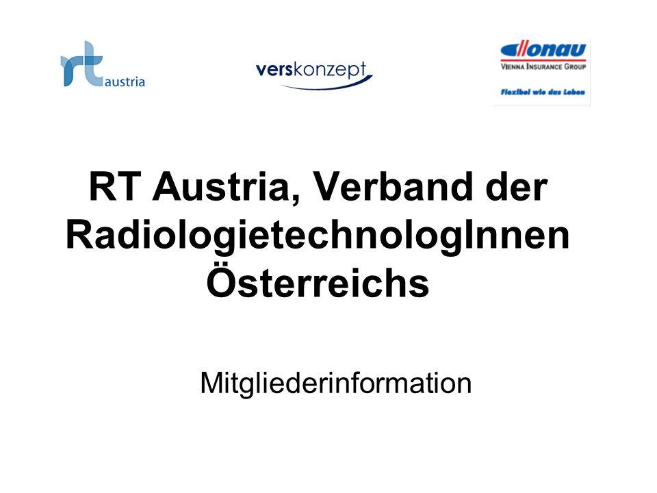 RT Austria, Verband der RadiologietechnologInnen Österreichs Mitgliederinformation