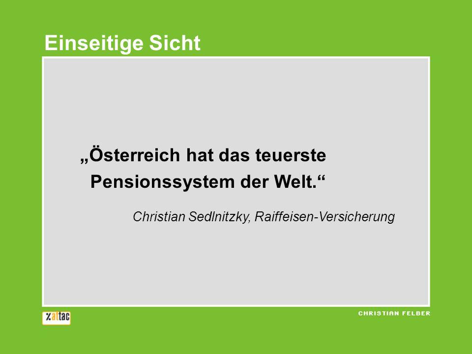 Österreich hat das teuerste Pensionssystem der Welt.