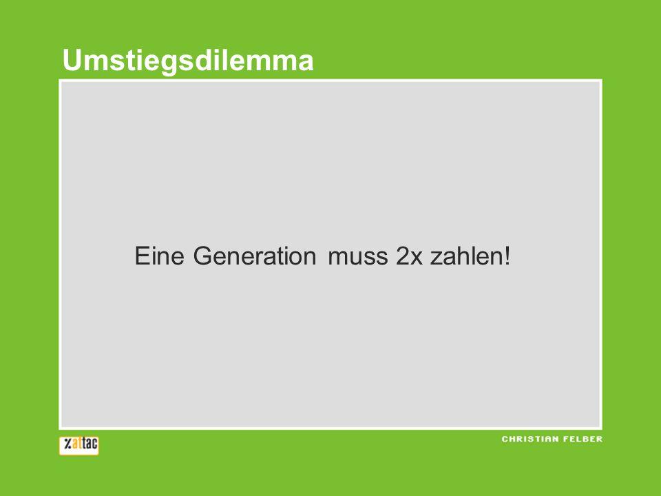 Eine Generation muss 2x zahlen! Umstiegsdilemma