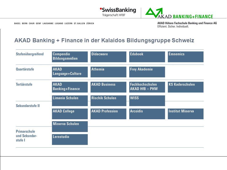AKAD Banking + Finance in der Kalaidos Bildungsgruppe Schweiz
