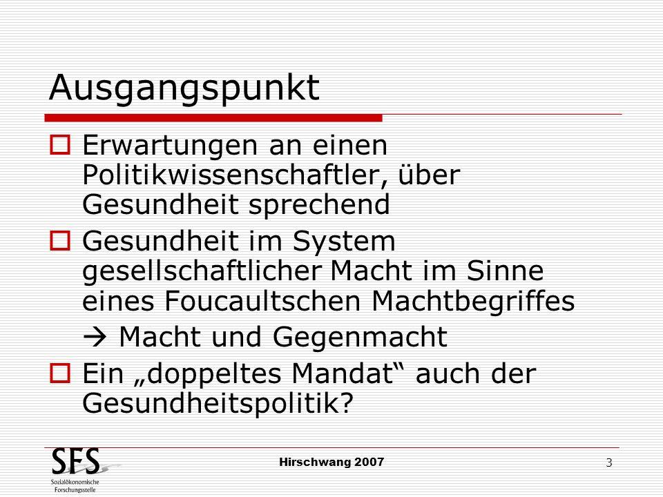 Hirschwang 2007 4 Begriffsklärung (1) Nachhaltigkeit Zustand, der die ursprüngliche Interaktion überdauert selbsttragender Prozess Letztendlich: die Intervention (und damit die Intervenierenden) überflüssig machend demokratisches Element.