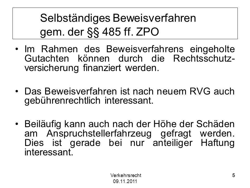 Verkehrsrecht 09.11.2011 6 BGH, Beschluss vom 20.10.2009, Az.