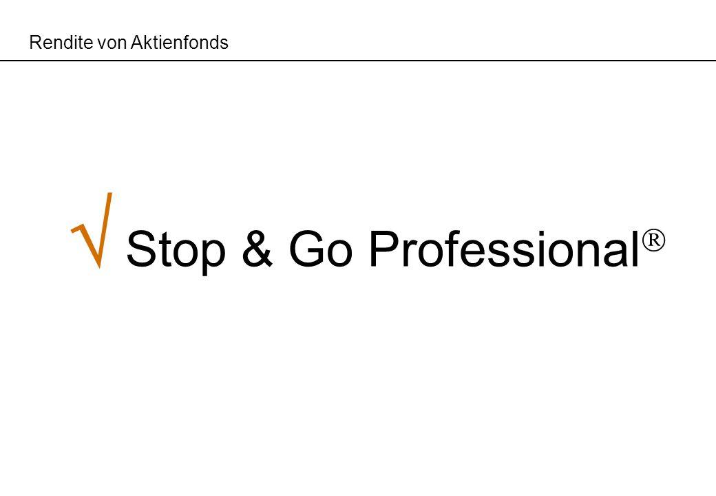 Rendite von Aktienfonds Stop & Go Professional