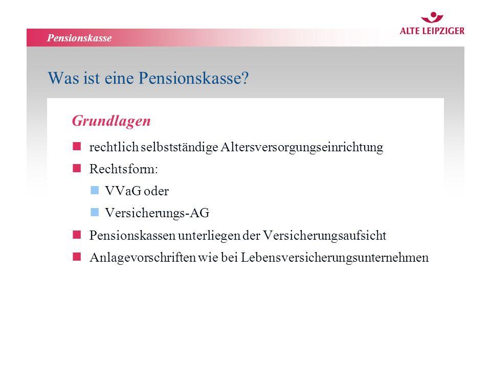 Pensionskasse Was ist eine Pensionskasse.