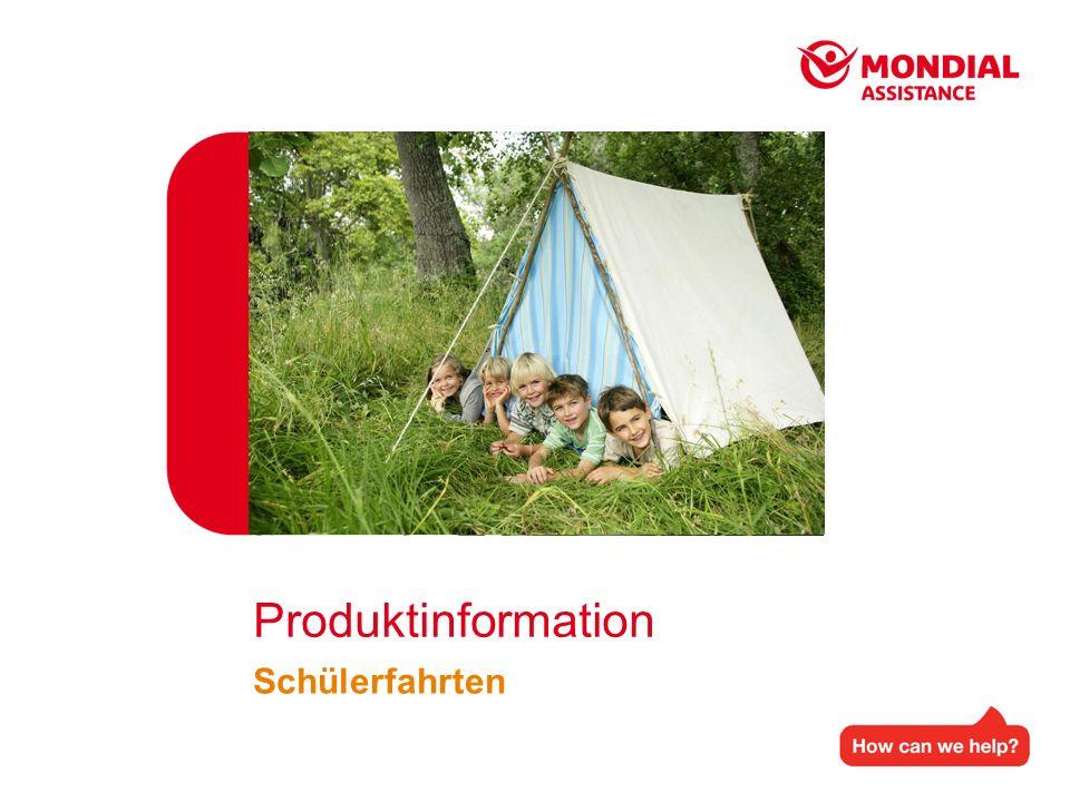 Produktinformation Schülerfahrten