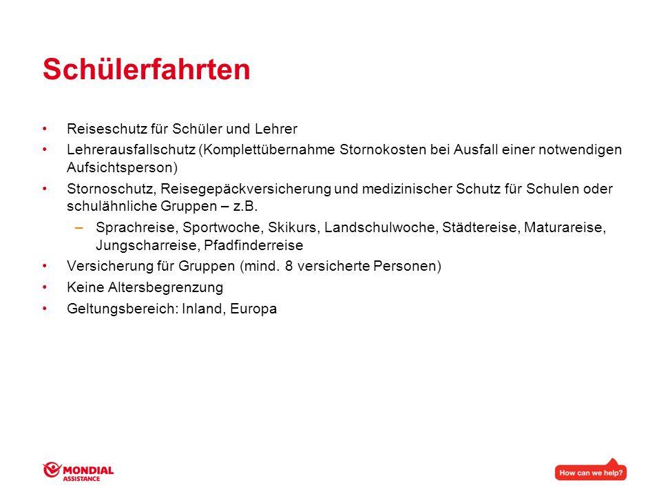 Produktinformation Veranstalterpaket (Reiseschutz Paket)