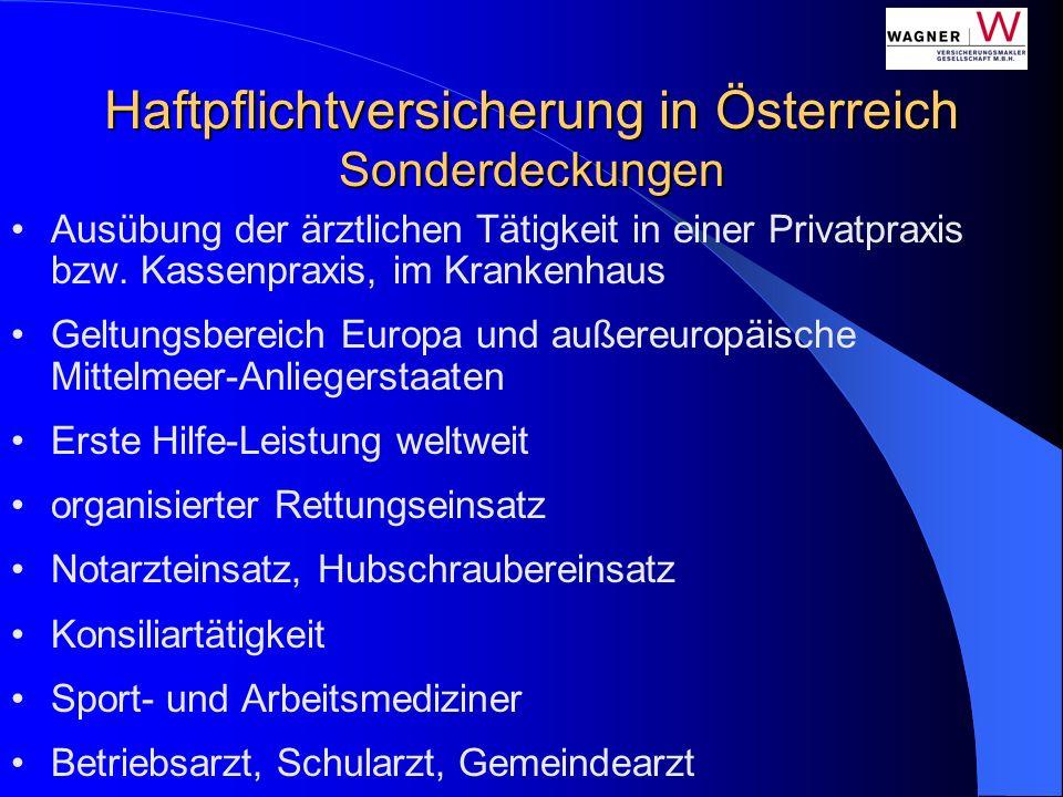 Ausübung der ärztlichen Tätigkeit in einer Privatpraxis bzw. Kassenpraxis, im Krankenhaus Geltungsbereich Europa und außereuropäische Mittelmeer-Anlie