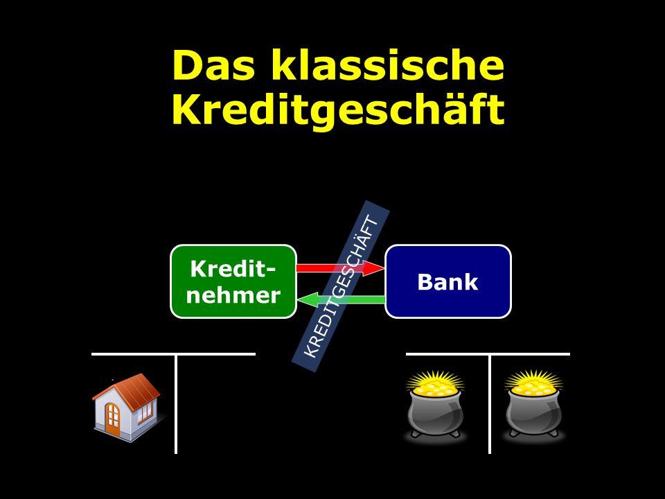 Das klassische Kreditgeschäft Kredit- nehmer Bank KREDITGESCHÄFT