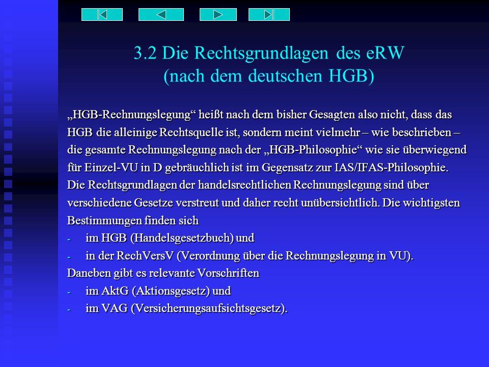 3.2 Die Rechtsgrundlagen des eRW (nach dem deutschen HGB) HGB-Rechnungslegung heißt nach dem bisher Gesagten also nicht, dass das HGB die alleinige Re