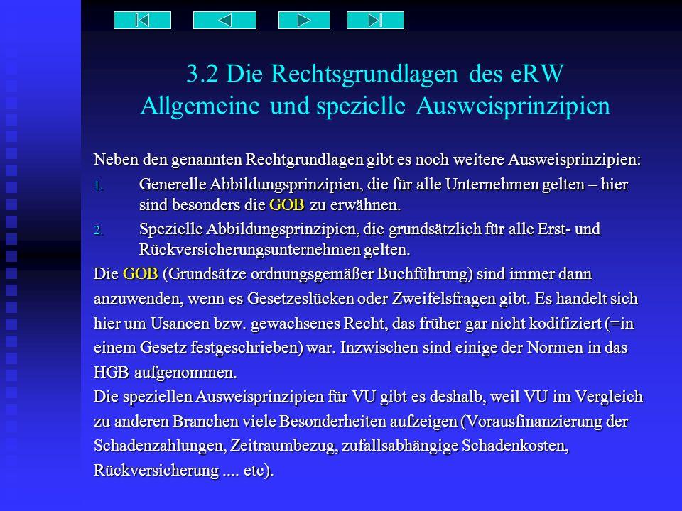 3.2 Die Rechtsgrundlagen des eRW Allgemeine und spezielle Ausweisprinzipien Neben den genannten Rechtgrundlagen gibt es noch weitere Ausweisprinzipien