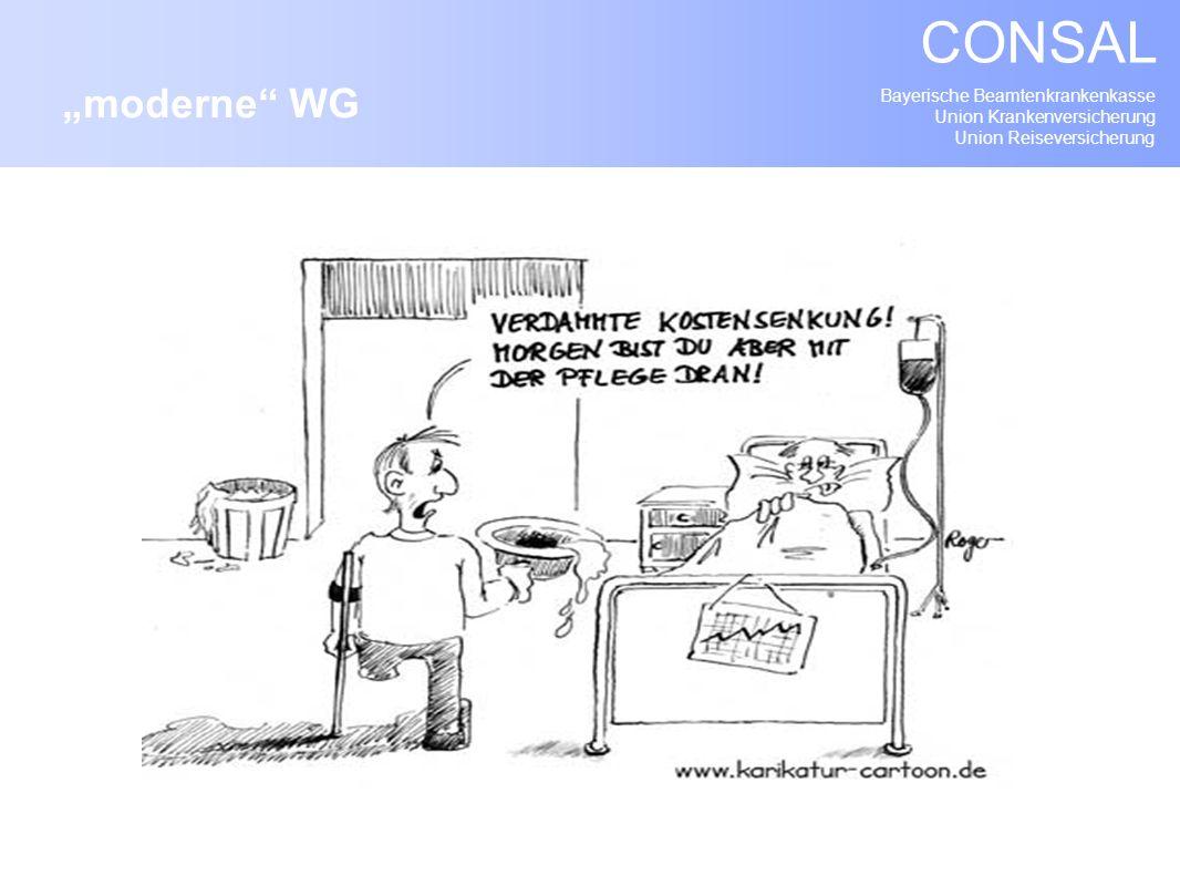 Bayerische Beamtenkrankenkasse Union Krankenversicherung Union Reiseversicherung CONSAL moderne WG